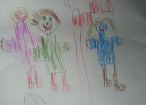billede femårig skolestart